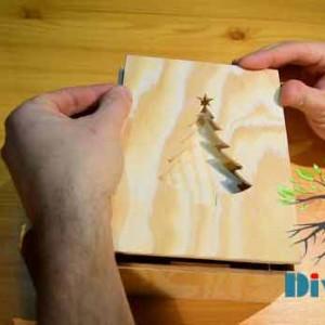 منتاژ جعیه کادو چوبی
