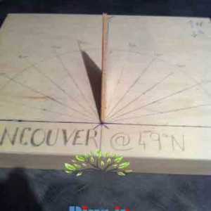 ساخت ساعت آفتابی چوبی