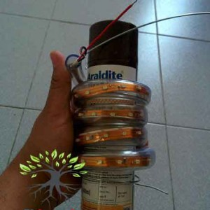 ساخت لامپ آویز مارپیچ LED