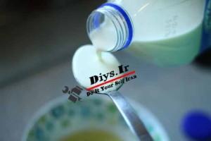 املت با شیر