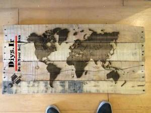 ایده لیزری با چوب